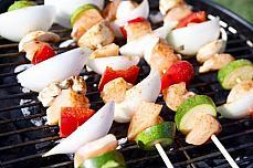 meat BBQ vegetables