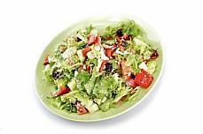 salad dish green vegetables plate