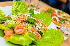 salad salmon beans